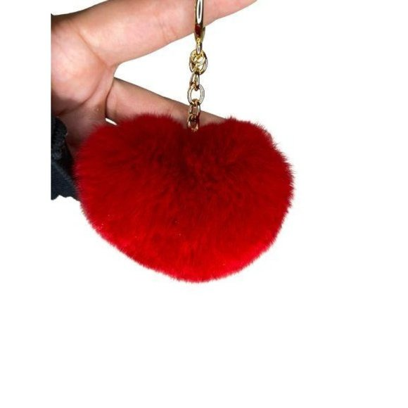 Michael Kors Womens Collection Faux Fur Heart Puff